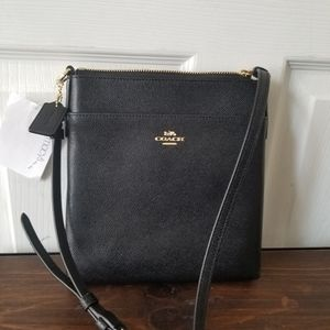 Coach Black Crossgrain Leather Messenger Bag